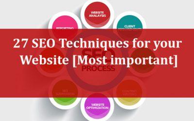 27 Top SEO Optimization Techniques for Websites